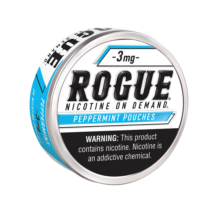 Rogue peppermint nicotine pouch 3mg 5ct