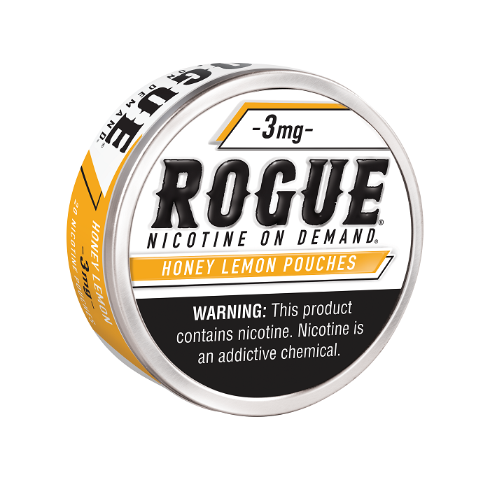 Rogue honey lemon nicotine pouch 3mg 5ct