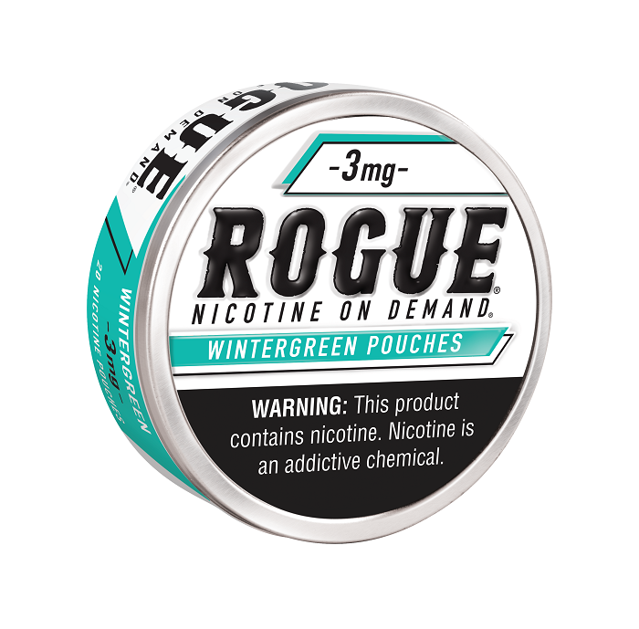 Rogue wintergreen nicotine pouch 3mg 5ct