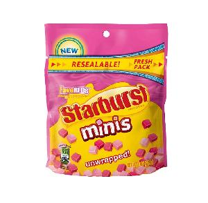 Starburst fave reds minis stand up bag 8oz