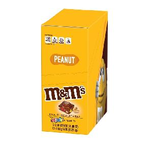 M&m peanut with minis tablet 12ct 4oz