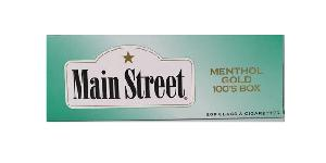 Main street menthol gold 100 box 10/20pk