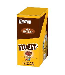 M&m milk chocolate with minis tablet 12ct 4oz